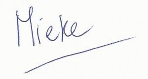 geschreven naam nieuwsbrief